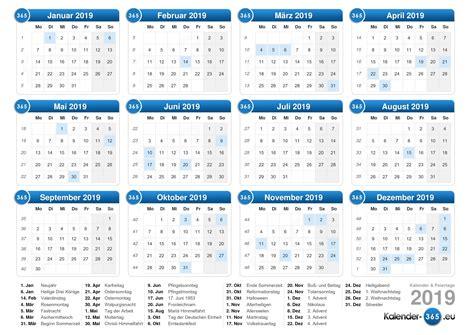 Kalender 2019 Zum Ausdrucken Kalender 2019