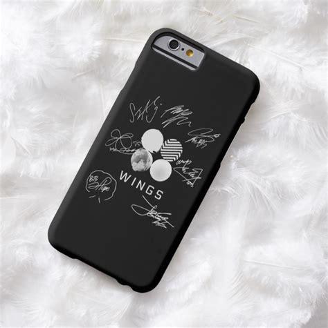 Kpop Phone Cases Velvet 1 Hardcase Print bts wings signatures 2 designs obeythekorean