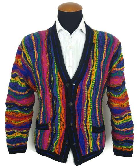Vintage 90s COOGI Cardigan Sweater size M Medium Cosby
