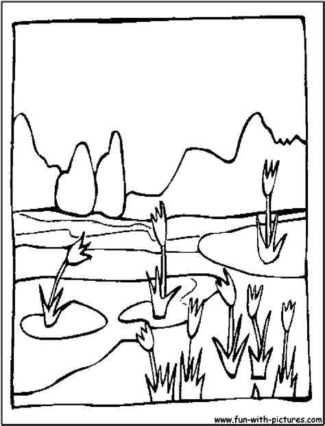 spring landscape coloring page free coloring pages of 3d landscape