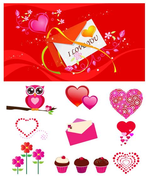 eulen kuchen liebesbriefe valentinstag eulen kuchen vektor free
