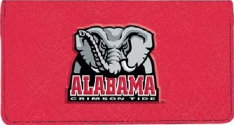 Alabama Background Check Crimson Tide Checkbook Cover Collegiate Checks