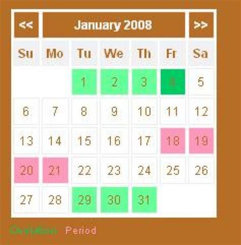 Calendar Method Calculator Free Ovulation Cycle Calendar Calendar Template 2016
