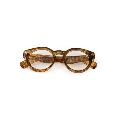 vintage swirl thick frame clear glasses