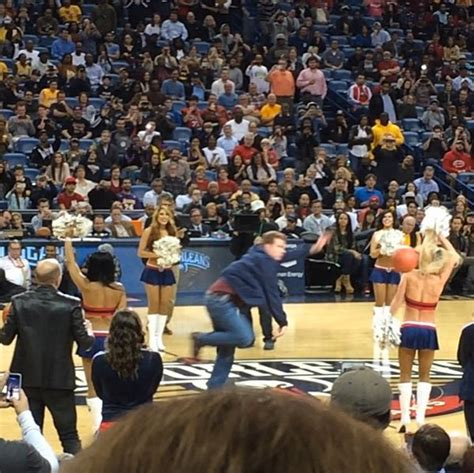 will ferrell yikes watch will ferrell hits cheerleader in the face at