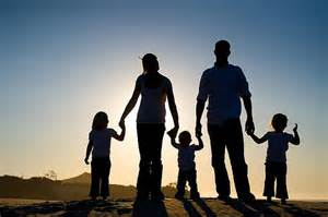 Family silhouette wildsau ca
