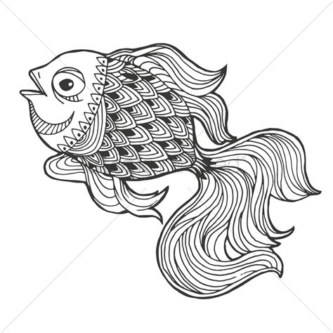 pattern drawing fish intricate fish design vector image 1544171 stockunlimited