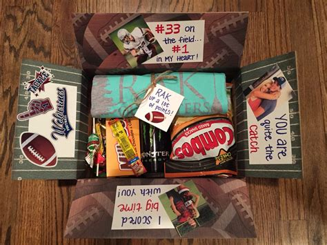 football player goodie bag football care package