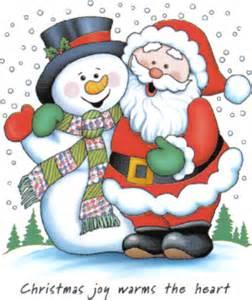 Christmas snowman and santa claus