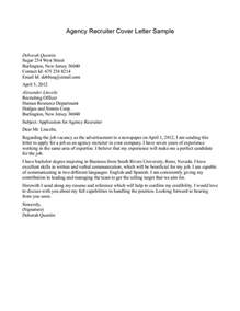 Cover Letter To Recruiter by Sle Email To Recruiter Sle Resume Format