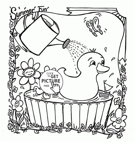 summer coloring sheets free preschool summer coloring pages az coloring pages