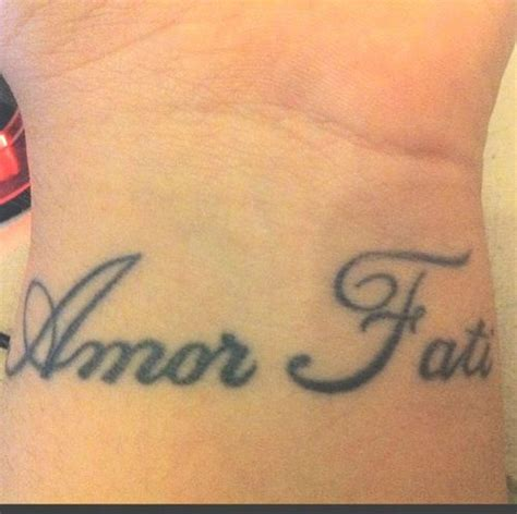 amor fati tattoo quot fati is a phrase loosely translating to quot