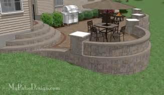 Patios Con Ladrillos Patio Ideas Sloped Backyard