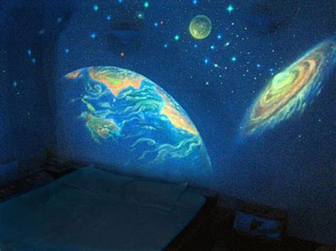 Full Wall Murals Cheap glow in the dark bedroom decoration