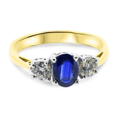 vintage engagement rings sapphire with two