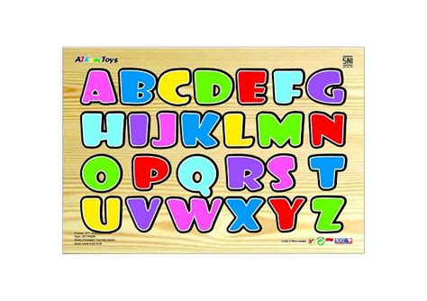 Mainan Edukatif Mainan Balok Kayu Puzzle Chunky Huruf Besar jual mainan edukatif edukasi anak balok kayu puzzle sticker huruf besar toko dnd
