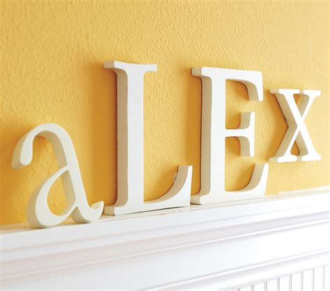 Pottery Barn Wall Letters lowercase letters traditional wall letters by pottery barn