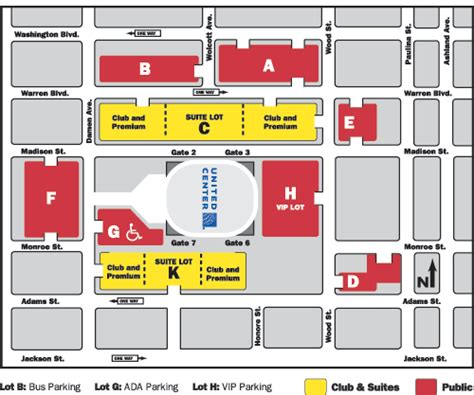 united center chicago map directions parking united center