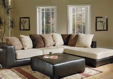 Brown Microfiber Sectional Sofa Microfiber Sectional Sofa Leather And Suede Sectional Sofa