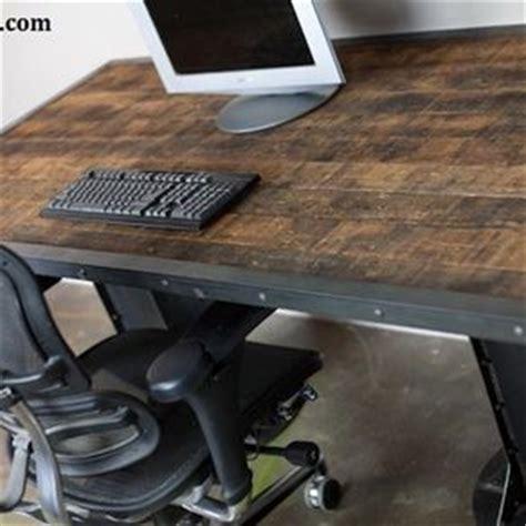 Reclaimed Wood Sit Stand Desk by Industrial Desks Custom Office And Computer Desks
