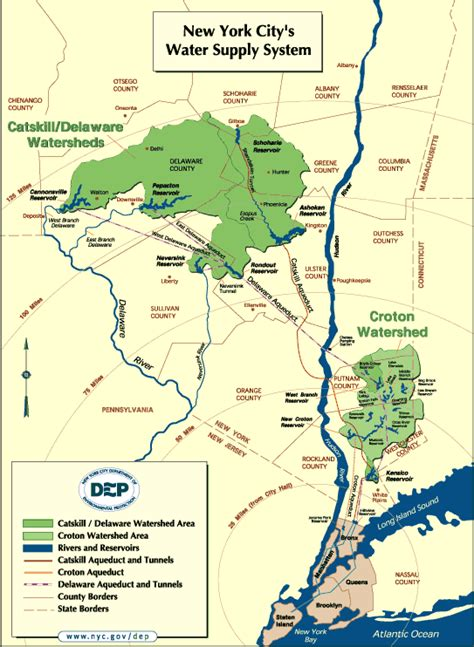 map of new york city tunnels water and watersheds lessons from new york city