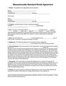 residential lease agreement template free free massachusetts standard residential lease agreement