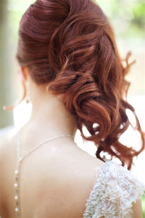 side swept waves curls wedding hairstyle 1 bridal musings wedding