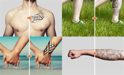 tattoo mockup photoshop templates pack by go media tattoo mockup photoshop templates pack by go media