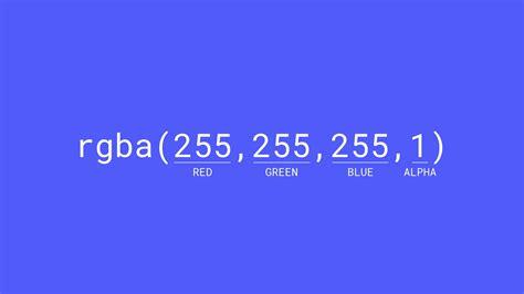 rgba color color values hex rgba color names webflow