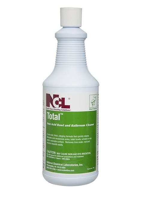 Acid Bathroom Cleaner by Bowl Quot Total Quot Non Acid Bowl And Bathroom Cleaner Croaker