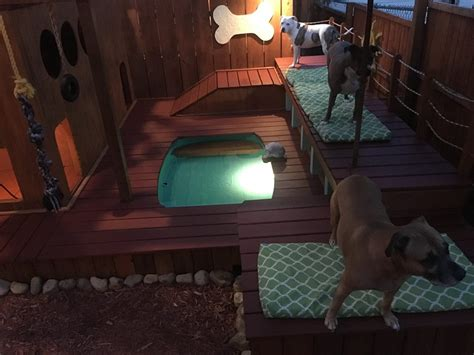 dog play area backyard guy takes two years to build incredible 3 story backyard