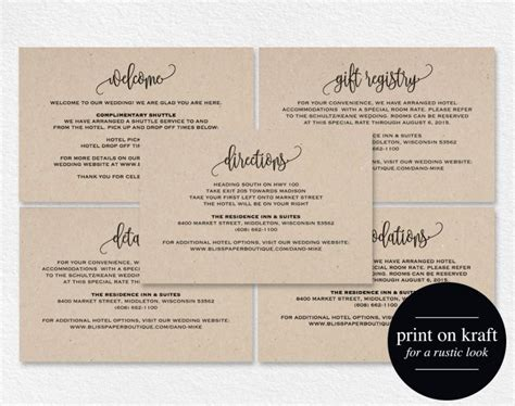 wedding enclosure cards free template enclosure cards details card directions card gift