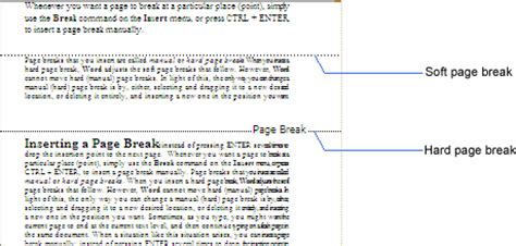 section break definition pagination background pagination page breaks and