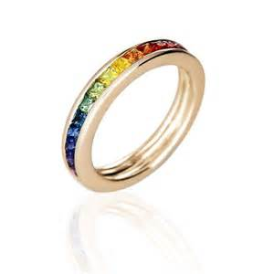 san diego wedding bands mens engagement ring wedding band 14k yellow gold unisex unique rainbow sapphire