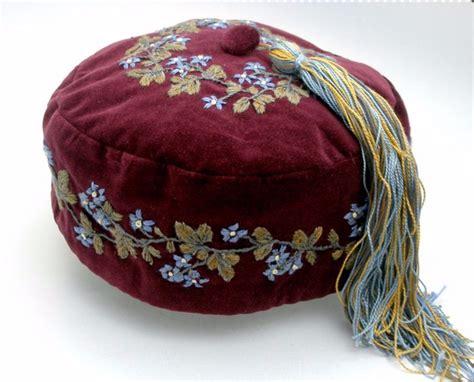 Handmade Caps - cap style handmade embroidered velvet