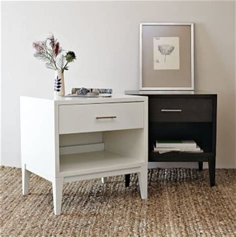narrow side tables for bedroom narrow leg end table white nightstands and bedside tables by west elm
