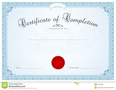 certificate diploma background template floral completion