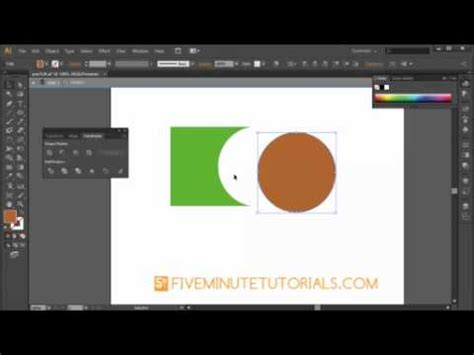 tutorial illustrator pathfinder adobe illustrator cs6 pathfinder palette pathfinders