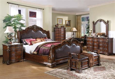 Leather Headboard Bedroom Set by Sleigh Bedroom Collection Leather Headboard Footboard