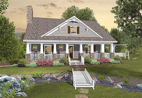 House Plans With Back Porch by Country Craftsman With Matching Back Porches 20109ga