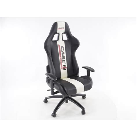 FK Automotive Case IH Black/White Racing Office Chair