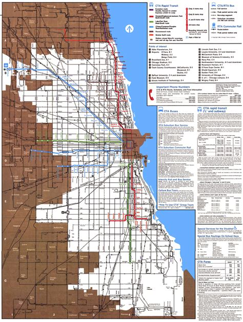 chicago elevated map chicago elevated maps