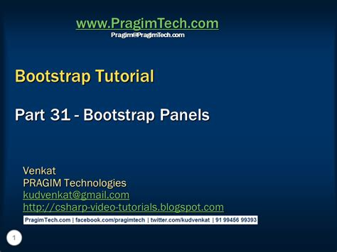 tutorial about bootstrap sql server net and c video tutorial bootstrap panels