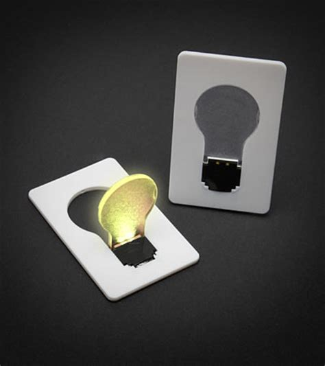 Cards With Lights - credit card lightbulb
