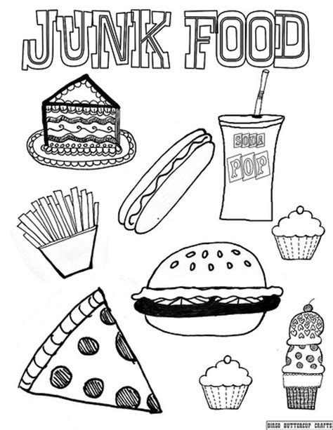 junk food 8 5 by11 coloring page flickr photo sharing