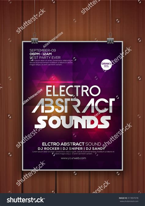 Creative Abstract Flyer Template Or Banner Design For Musical Party Celebration Stock Vector Celebration Banner Templates
