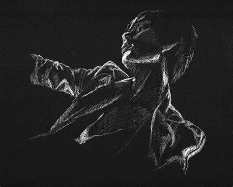 Black And White Drawing Wallpaper | white on black background by elemista deviantart com on