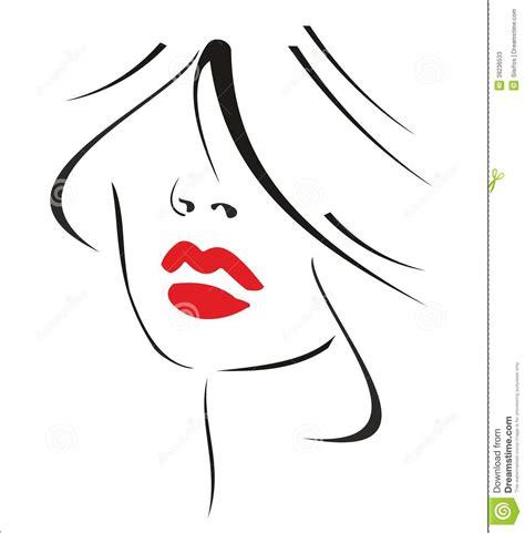 imagenes de labios a blanco y negro mujer con el pelo negro y los labios rojos stock de