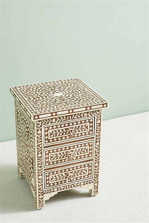 Bone Inlay Nightstand by Bone Inlay Three Drawer Dresser Anthropologie