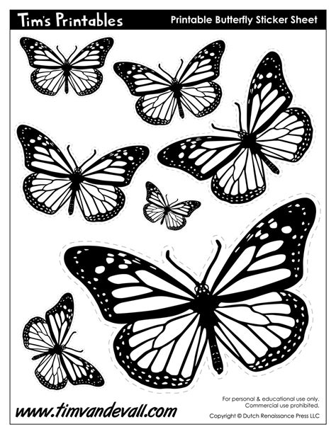 monarch butterfly template printable butterfly templates tim s printables